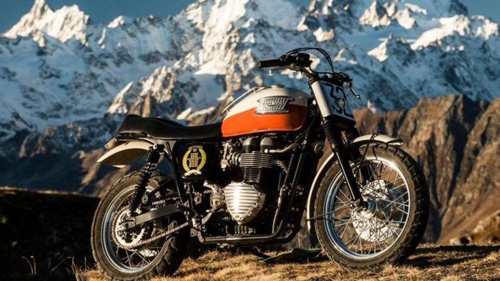 A Triump Bonneville Motorcycle