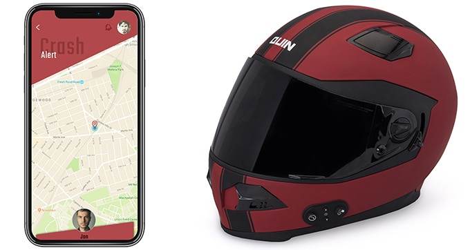 Quin Helmet with Smartphone app