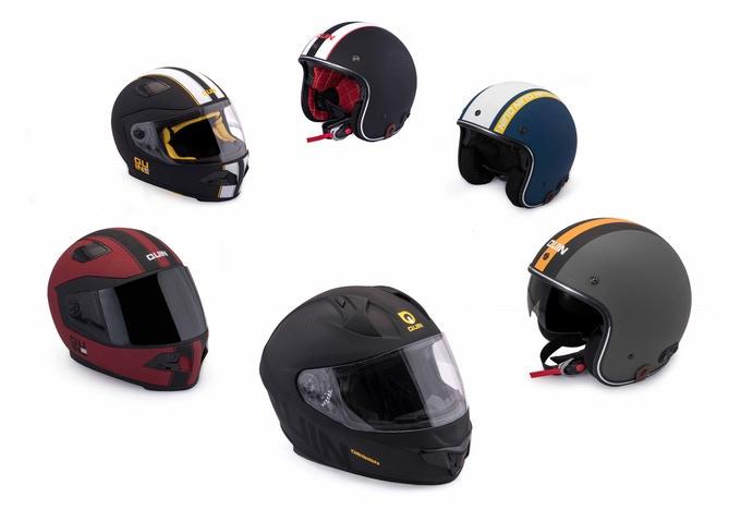 Showing different Quin Helmet models